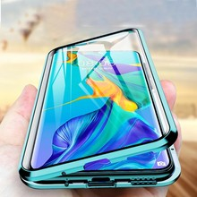 Double Sided Tempered Glass Magnet For Samsung S8 S9 S10 Plus S20 Ultra A50 A51 A71 Note 20 8 9 10 360 Full Protection Flip Cove