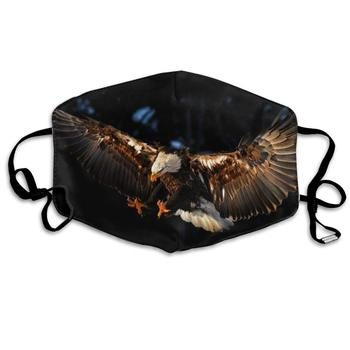 Polyester Anti-dust Mouth Mask - Eagle Flying Seamless Art Washed Reusable Mouth-Muffle - Fashion Printed Face Masks for Outdoor unisex print mouth mask abstract light bulb head polyester anti dust mouth muffle fashion washed reusable face masks for