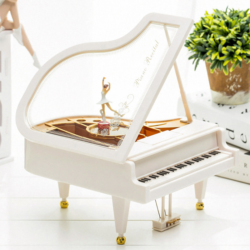 Romantic Classic Piano Model Rotating Dancer Music Box Dancing Ballerina Musical Boxes Birthday Wedding Love Gift Home Decor