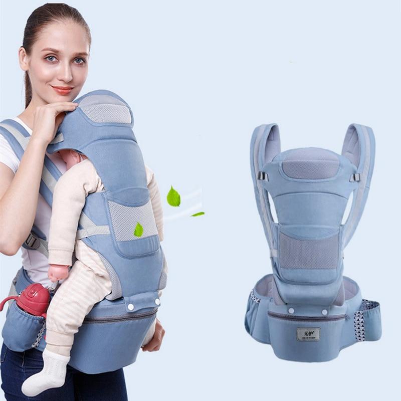 Ergonomic Baby Backpacks Carrier Cushion Front Sitting Kangaroo Baby Wrap Sling Travel Multifunction Infant 0-48M Dropshipping