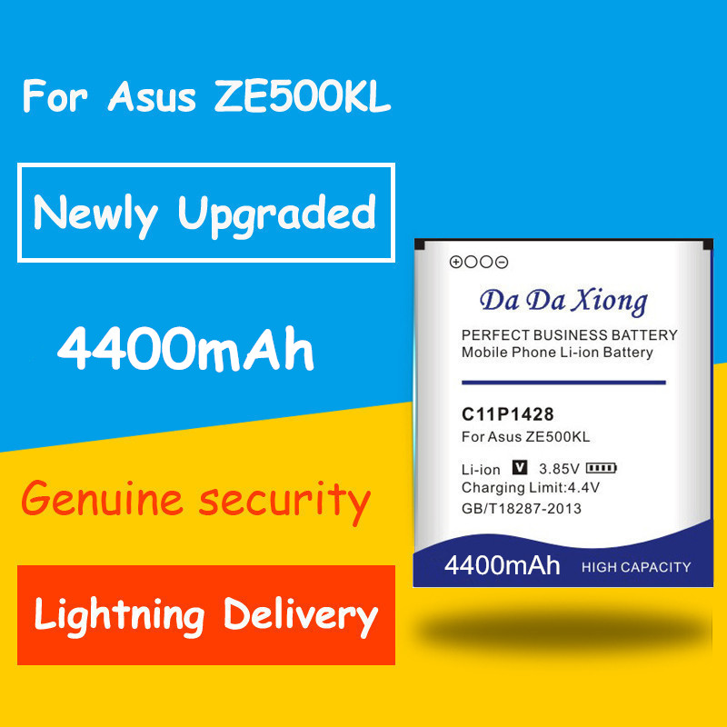 Free shipping 4400mAh C11P1428 <font><b>Battery</b></font> <font><b>for</b></font> <font><b>Asus</b></font> <font><b>Zenfone</b></font> <font><b>2</b></font> Zenfone2 <font><b>Laser</b></font> <font><b>ZE500KL</b></font> ZE500KG Replacement batteria image