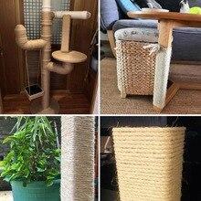 Устойчивый к царапинам сизаль веревка для защиты мебели Когтеточка Замена пеньковая веревка для котенка дерево башня