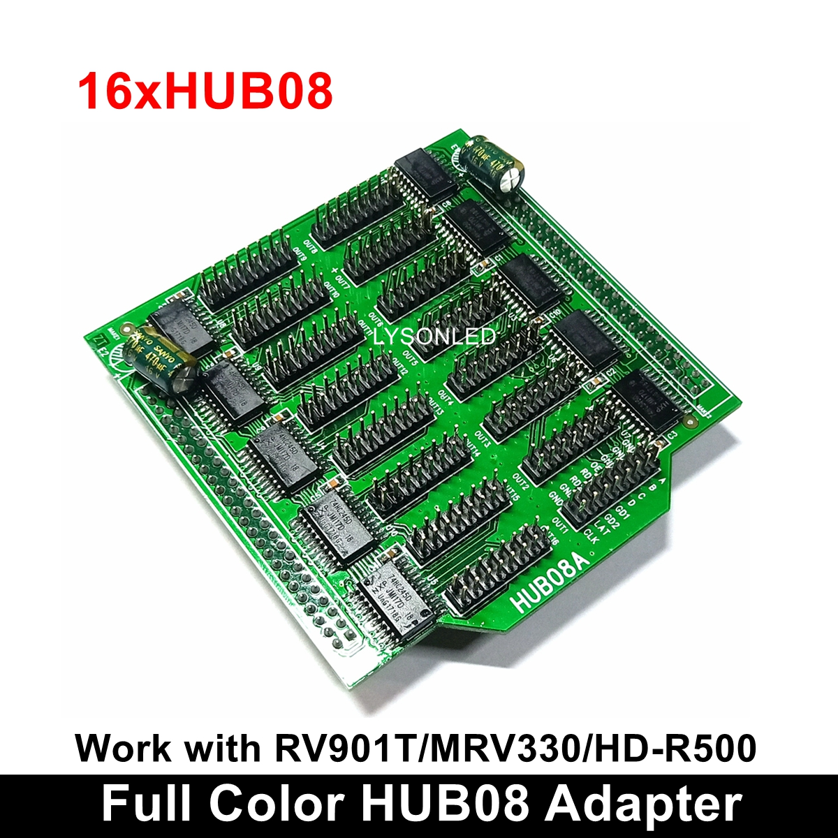 2pcs/lot Full Color LED Display Convertor Hub08 Compatible With RV901T MRV300 Receiving Card
