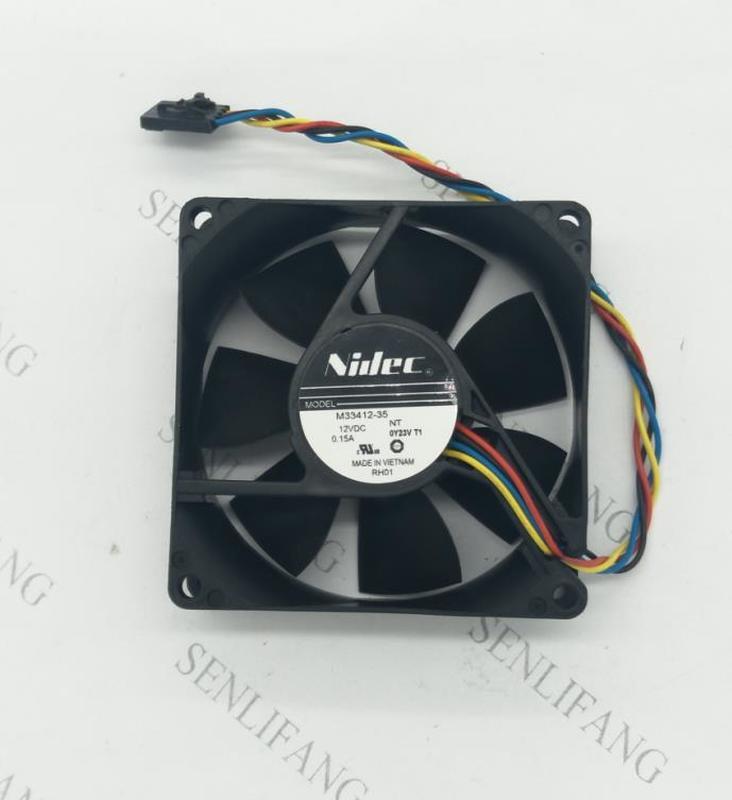 For NIDEC 8025 M33412-35 12V 0.15A 4 Wires 4 Pins Case Fan, 8cm Cpu Fan,cooling Fan