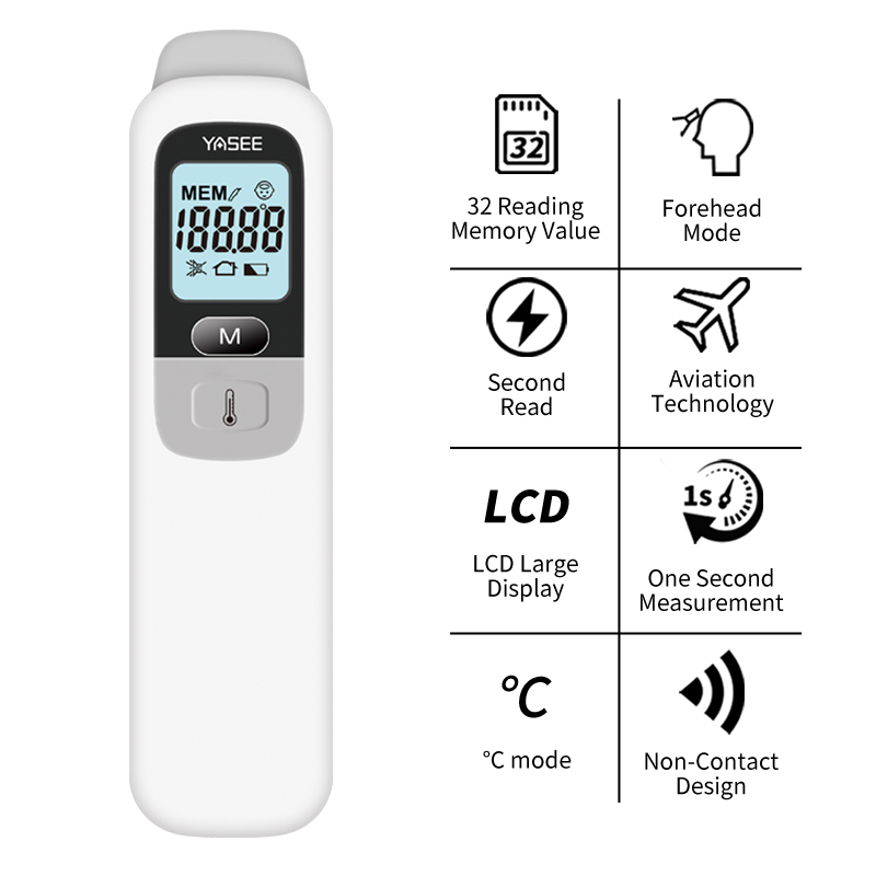 Non-contact Infrared Thermometer Forehead Ear Thermometer Children Body Fever Thermometer Digital Termometer For Children Adult