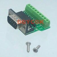 DHL/EMS 50 Sets * DB9 D SUB DE9 adaptador macho a Terminal de puerto de 9 pines RS232/422 /tornillo h2 485 Accesorios para baterías    -