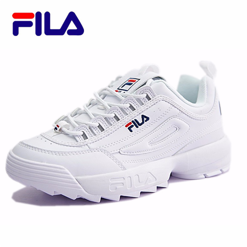 FILA Disruptor II 2 Big Sawtooth Thicker And Higher Leg Jogging Shoes Male And Female Women Shoes Fila Tenis