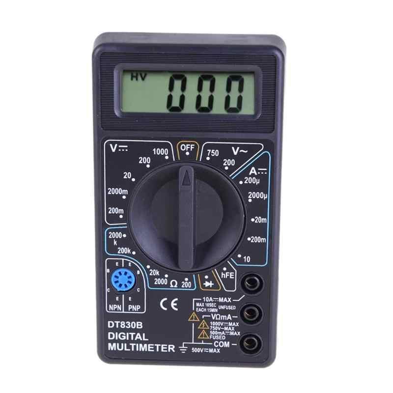 DT830B cyfrowy multimetr 750/1000V woltomierz amperomierz omomierz DC/AC Tester prądu ręczny wyświetlacz LCD wielu miernik