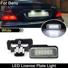 Para mercedes benz S-CLASS w211 C-CLASS w203 w219 slk r171 carro traseiro branco conduziu a placa de licença luz número da lâmpada