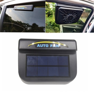 1Pcs Solar Power Auto Window Fan Air Vent Cooling Fan Ventilation Cooler Radiator Solar Exhaust Fan with Rubber Stripping Car(China)