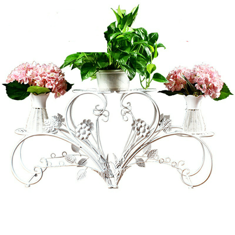 European Tieyi Flower Frame, Multi-storey Living Room, Ground Flower Frame, Ground-centered Flower Frame
