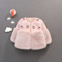 Toddler Girls Coat Fur Baby Outerwear For Girls Baby Girls Jacket And Coat Winter Faux Fur Thick Warm Baby Girls Snowsuit 1 3Y