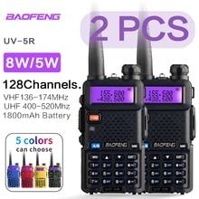 BaoFeng UV 5R ווקי טוקי רדיו תחנת Comunicador UV 5R חם משדר 128CH Dual Band אינטרקום כף יד טוקי ווקי UV5R