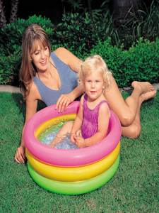 Swimming-Pool Float-Accessories Gonflable Rainbow Pscina Kids Round PVC for 0-3-Years-Old