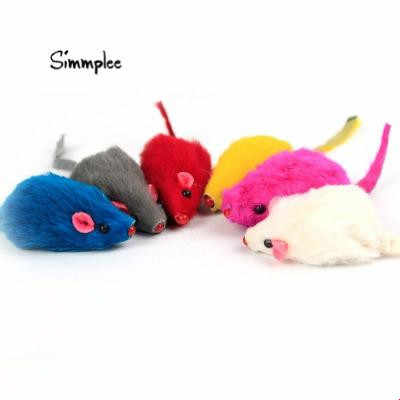 10 Pcs/5 Pcs Set Lucu Kelinci Bulu False Mouse PET Kucing Mainan Mini Lucu Bermain Mainan untuk Kucing anak Kucing Hewan Peliharaan Aksesoris Gatos