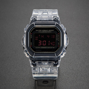 Image 2 - 투명 시계 세트 금속 걸쇠와 DW5600 GW M5610 시계 밴드 베젤 팔찌