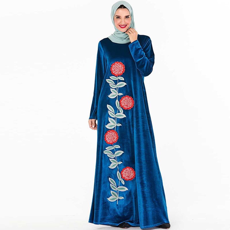 Velvet Abaya Dubai Muslim Dress Islamic Clothing Hijab Turkish Dresses Women Ramadan Caftan Marocain Kaftan Robe Musulmane