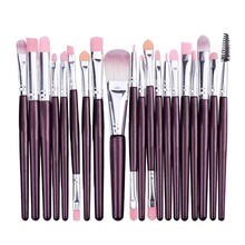 20 Make up Brush Beauty Makeup Set Eye Shadow Brush Neutral Eye Brush Face Brush With Multi-functional Cosmetic Bag professional eye shadow brush wood handle 230 large flat tapered shader brush eye detail make up brush cosmetic tool