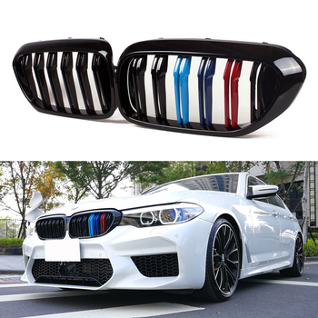 A Pair Car Kidney Grill Racing Grille For BMW 5 Series E60 E61 F10 F18 G30 G38 520i 525i 528i 530i 2003-2019 Car Accessories made in taiwan carbon fiber material m5 look front kidney grill grille for bmw 5 series f10 sedan 2010 520i 525i 530i 535i