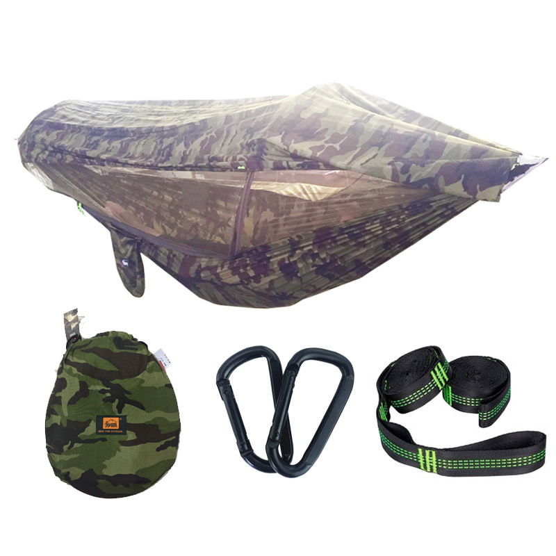 Cross Border Patented Anti-mosquito College Style Mosquito Net Hammock Parachute Cloth Seconds Open Swing Ground Air Tent Eaby