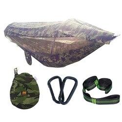 Transgraniczny opatentowany hamak z moskitierą w stylu College hamak z moskitierą tkanina spadochronowa sekund otwarty huśtawka namiot powietrzny Eaby na
