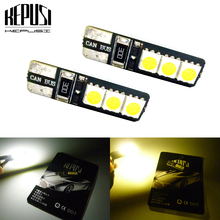 купить 2x Auto T10 Led White 194 W5W canbus LED 168 5050 6smd Car Turn Side License Plate Light Lamp Bulb Clearance Lights DC 12V дешево