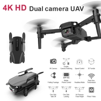 4K Cámara Dual de HD WIFI FPV Drone RC Drone Control de APP 3D truco Rolling inteligente sigue en Quadcopter con 3 uds batería RTF gesto foto