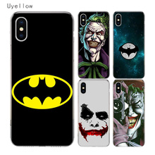 Uyellow Batman Joker Dark Knight Cover For Iphone 5 6S 7 8 9 10 Plus Trend Silicone Soft Phone Case Apple X XR XS MAX Coque