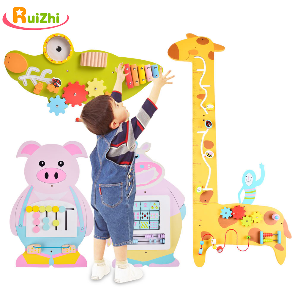 Ruizhi Kindergarten Wall Toy Games Corridor Children Operating Board Wall Decoration Cognitive Board Educational Toys RZ1193