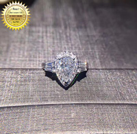 18k goldr ring 1ct D VVS moissanite ring Engagement&Wedding Jewellery with certificate 0049