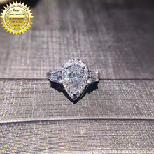 18k goldr ring 1ct D VVS moissanite ring Engagement&Wedding Jewellery with certi