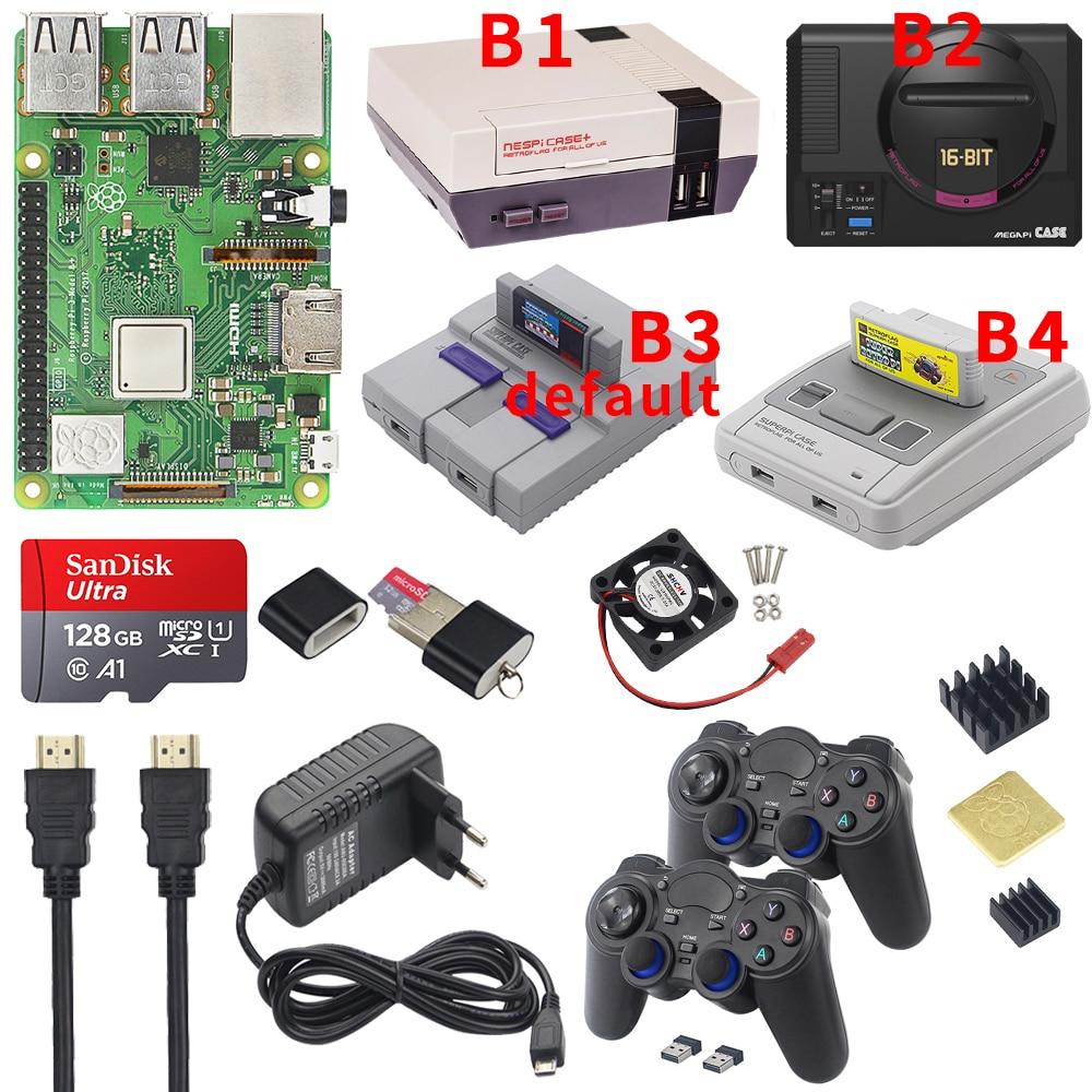 Raspberry Pi 3 Model B Plus Gaming Kit Power Supply SD Card HDMI Cable Heatsink Retroflag NESPi Case for Retropie 3B Plus Pi 3B