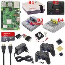 Raspberry pi 3 modelo b plus jogo de jogos + fonte alimentação cartão sd cabo hdmi dissipador de calor retroflag nespi caso para retropie 3b plus/pi 3b +