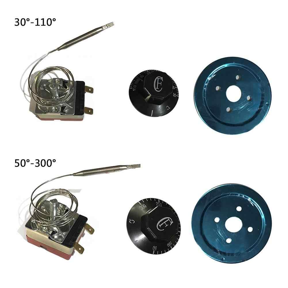 Thermostat mécanique chauffe-eau interrupteur de température 220V AC 16A 30-110/60-200/50-300 Base en céramique centigrades