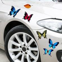 Автомобильные наклейки с царапинами красивая бабочка листья