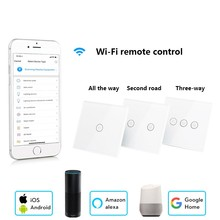 ZUCZUG US/EU Regulations Smart Switch 1/2/3 Gang WIFI Remotely Light Control Wall Switch For Alexa Goole Voice Control Switch