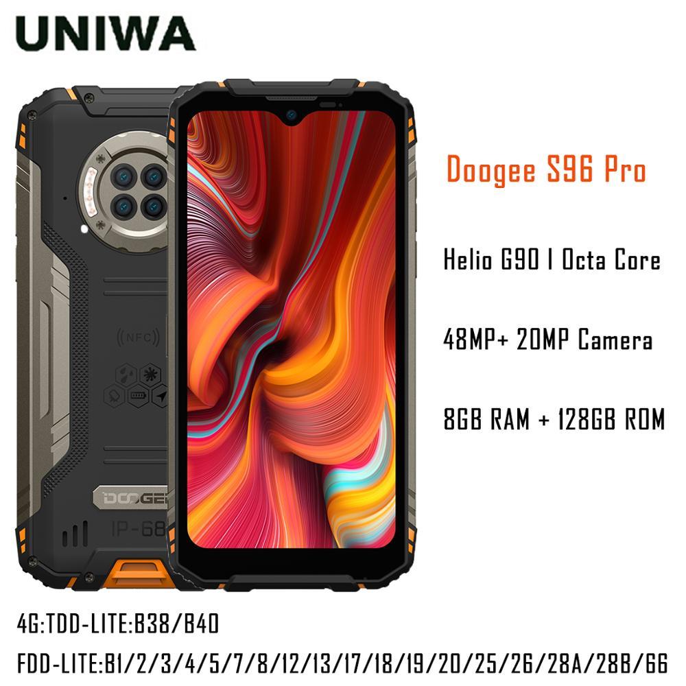 Водонепроницаемый восьмиядерный смартфон Helio G90, 8 ГБ + 128 Гб, 48 МП, камера 20 МП, инфракрасное ночное видение, 6350 мАч, DOOGEE S96 Pro