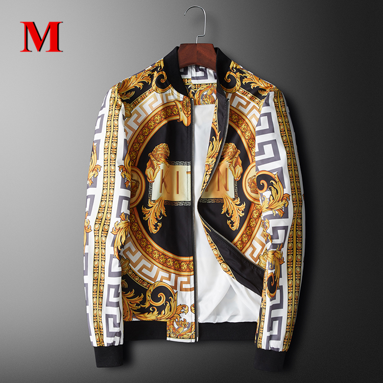 2020 New Luxury Men Jacket Baseball Collar Print Jacket Men Coat Fashion Leisure Jacket Man