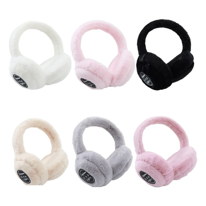 Unisex Earmuffs Headphones Winter Warm Plush Bluetooth Wireless Headset Earphone