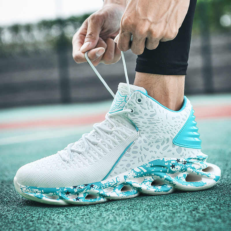 Zapatillas de Baloncesto de Verano Botas Altas de ca/ña Alta para Hombre Zapatillas Antideslizantes Resistentes al Desgaste Absorci/ón de Golpes Zapatillas de Entrenamiento para Competencia