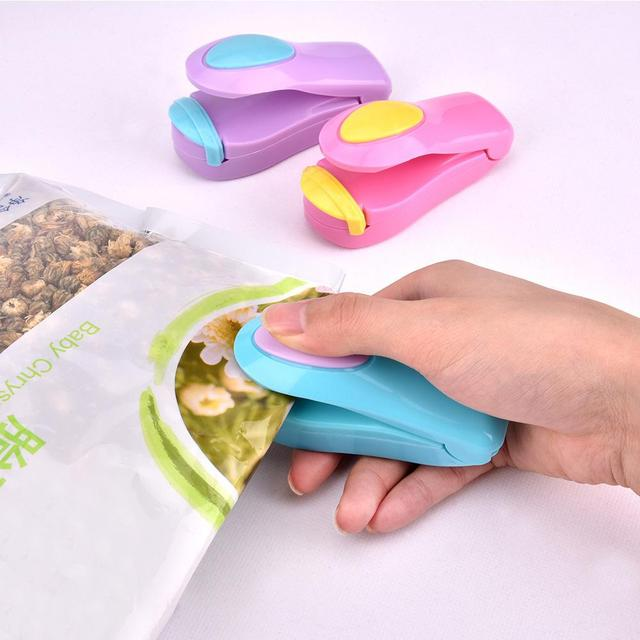 AYEVIN Kitchen Accessories Tools Portable Mini Sealing Machine for Kitchen Storage Plastic Bag Sealer Food Storage Bag Clip Hot 3