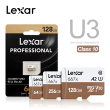 Lexar profesyonel hafıza kartı 100mb/sye kadar Micro SD kart 667x C10 256GB TF kart 128GB ücretsiz adaptörü için Drone spor kamera