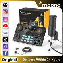 Original Maono Caster Am200-s1 Mikrofon Mischer Soundkarte Kits Audio Podmaster Mit Codener Mic Kopfhörer Für Telefon Live-Stream