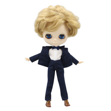 Одежда для шарнирных кукол DBS icy blyth, костюм для мальчика, красивая белая рубашка с бантом и штаны, только одежда