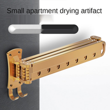 Clothes rack folding telescopic balcony drying rack clothes rail indoor household wall-mounted invisible drying quilt artifact