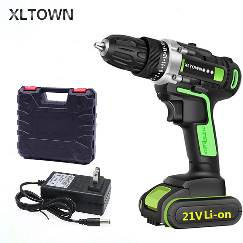 XLTOWN 16.8/21V Cordless Mini Electric Drill Multi-function Lithium Battery Rechargeable Electric Screwdriver Power tools
