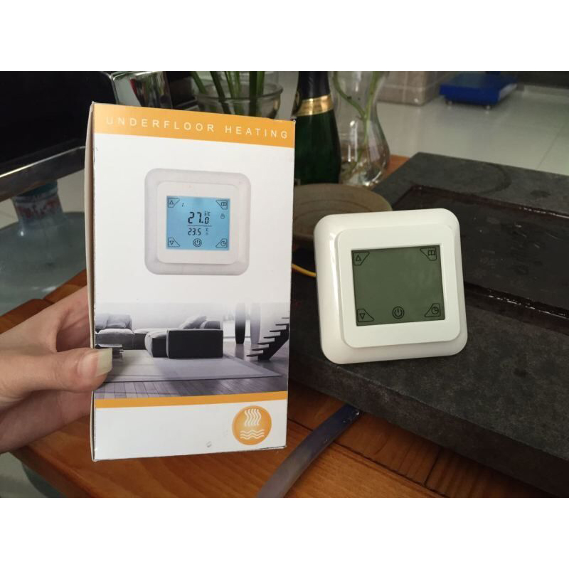 CE ROHS touch screen underfloor heating thermostat temperature controller room thermostat 16A Temperature
