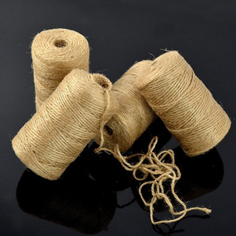 100M Twisted Natural Jute Hemp Rope For Hang Tag Label Jewelry Making