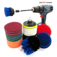 Drill Brush Kit Set Power Scrubber Brush Scouring Scrub Pads For Bathroom Parts