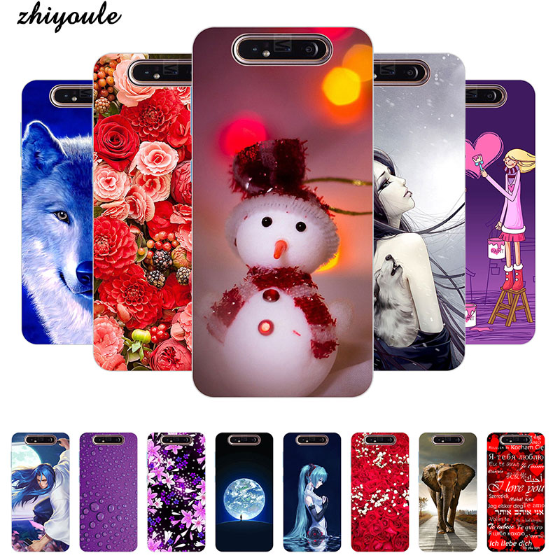 For Samsung A80 Case Animal Soft TPU Clear Bumper Coque For Samsung Galaxy A80 Silicone Phone Back Cover Capas A 80 A805 A805F image